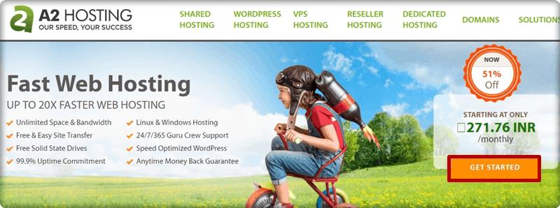 a2hosting homepage