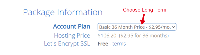 bluehost basic plan hosting