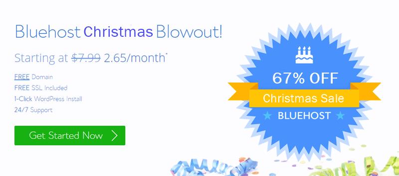 bluehost christmas sale