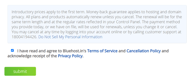 bluehost india hosting