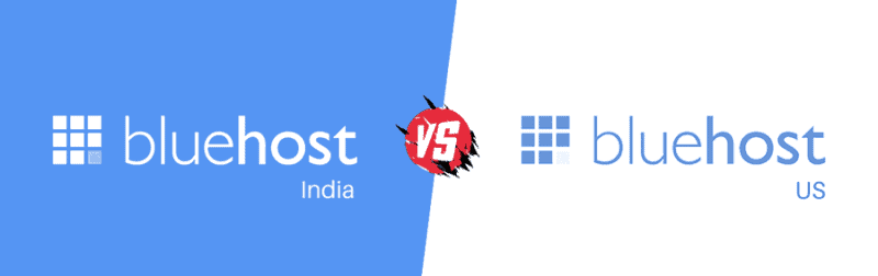 bluehost india vs bluehost com