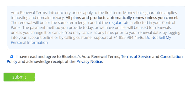 bluehost payments