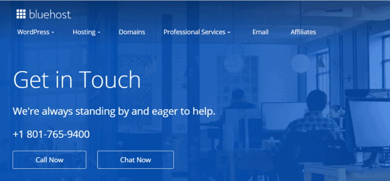 bluehost phone number