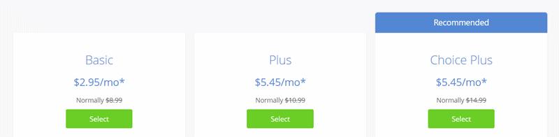 bluehost wordpress hosting pricing