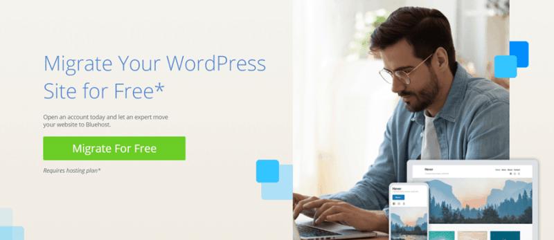 bluehost wordpress migration service