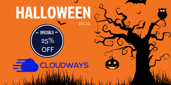 Cloudways Halloween Deal 2021 – 25% Off Special Coupon Code Added
