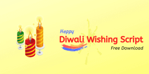 happy diwali wishing script