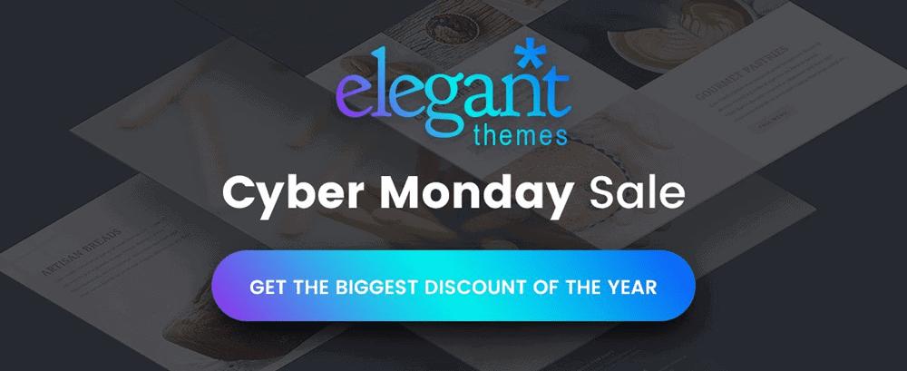 elegant themes cyber monday