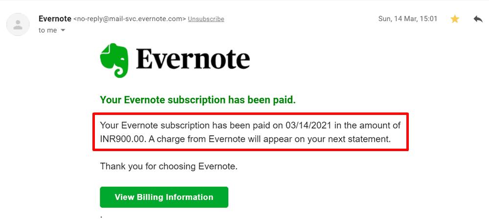 evernote premium subscription