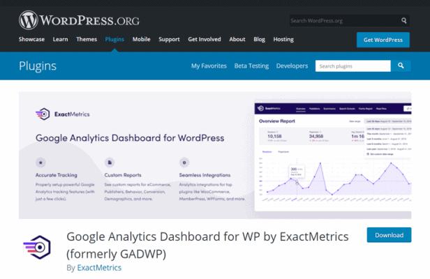 exactmetrics wordpress plugin