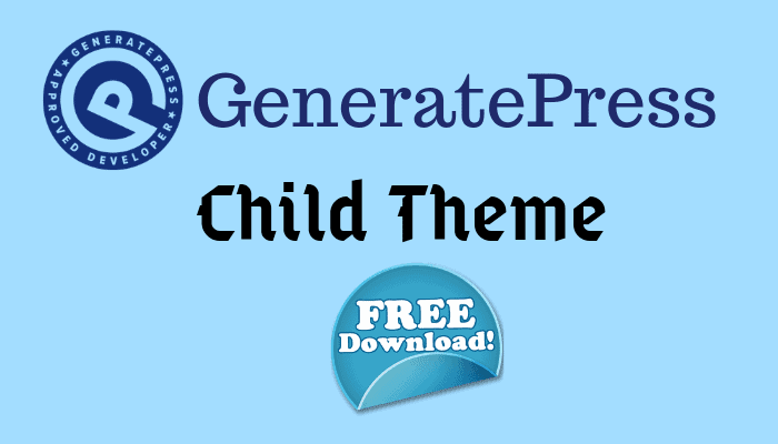 generatepress child theme