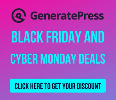 generatepress cyber monday