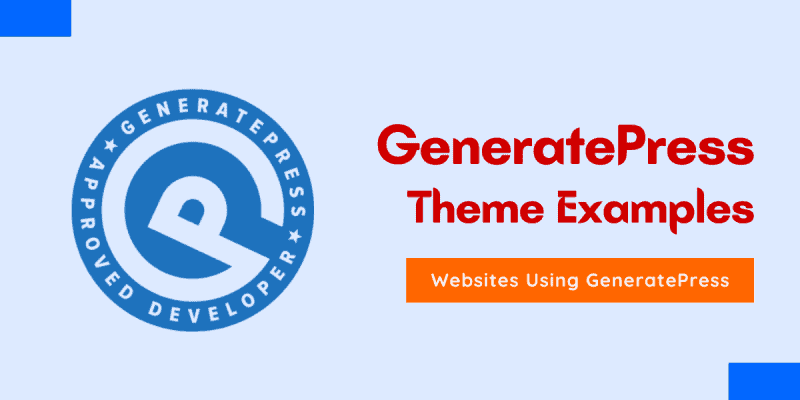 generatepress theme examples