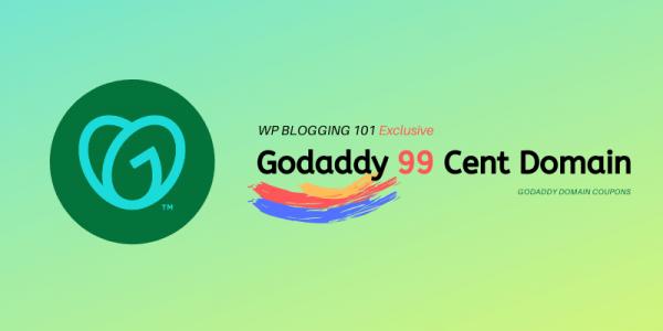 GoDaddy 99 Cent Domain Promo Code April 2021
