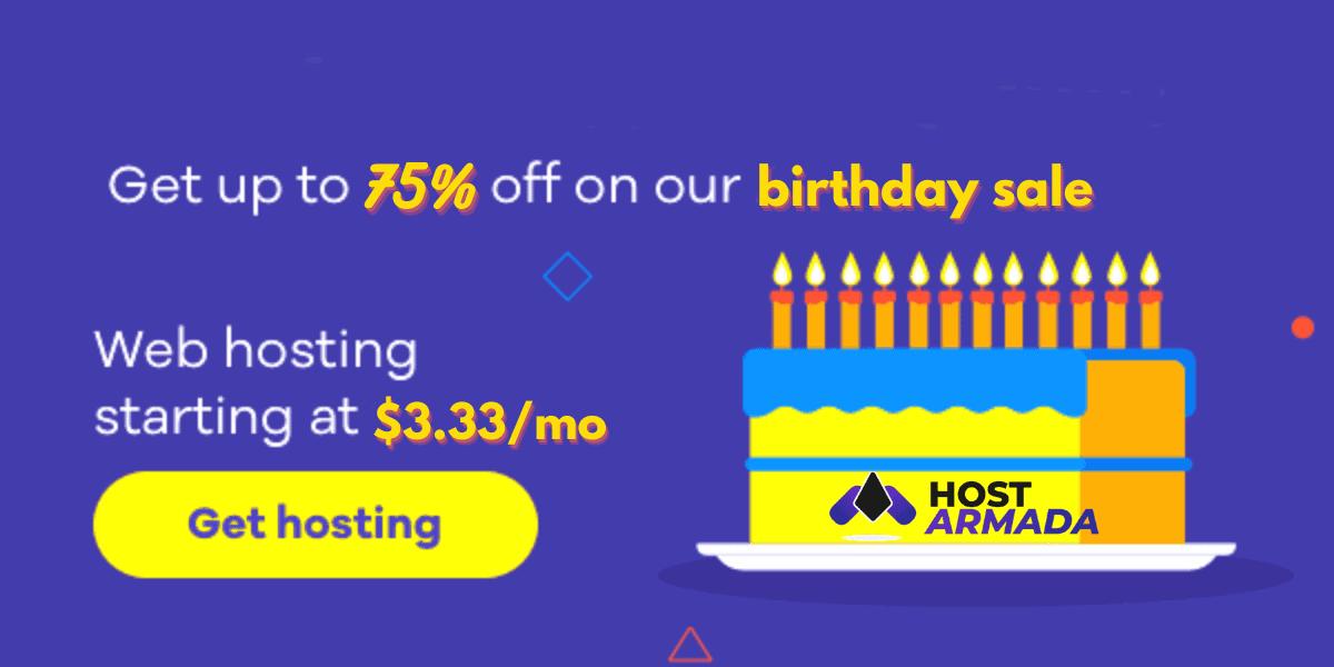 hostarmada birthday sale