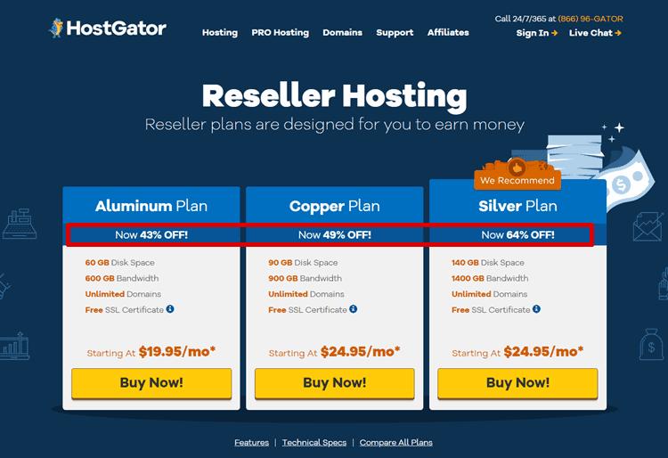 hostgator reseller hosting coupon