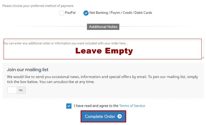 hostkarle hosting checkout