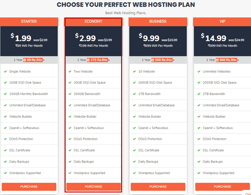 hostkarle hosting plans