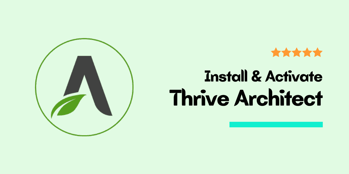 install thrive architect