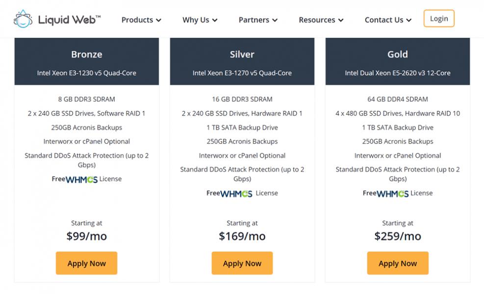 liquid web reseller pricing