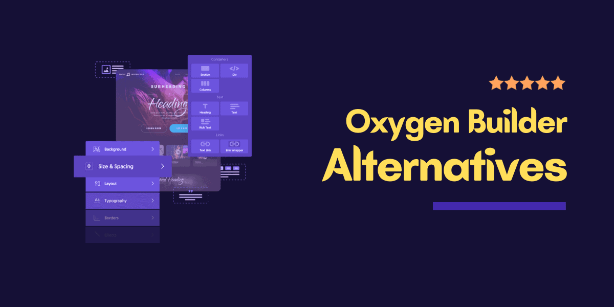 oxygen builder alternatives
