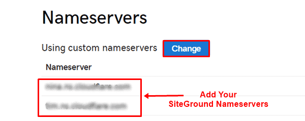 point godaddy domain to siteground hosting