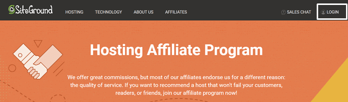 siteground affiliate login