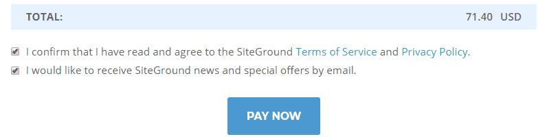 siteground hosting purchase