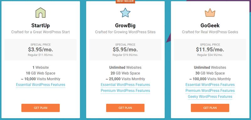 siteground pricing