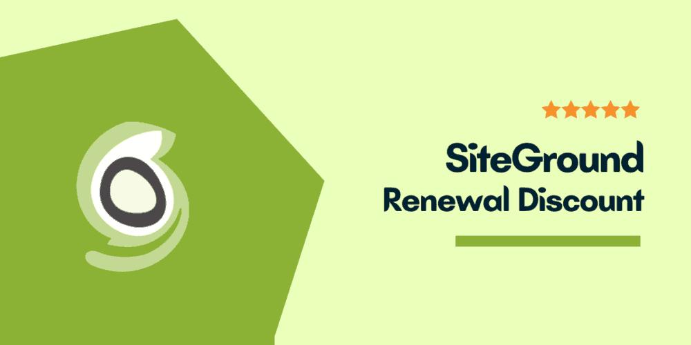 siteground renewal discount