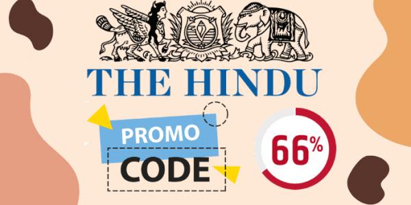 The Hindu ePaper Promo Code 2021 [Flat 66% Off]