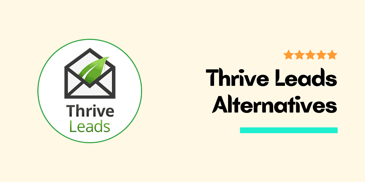 thrive leads alternatives
