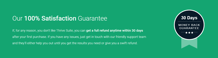 thrive themes refund policy