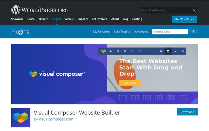 visual composer wordpress plugin