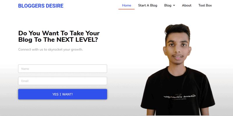 website examples bloggers desire
