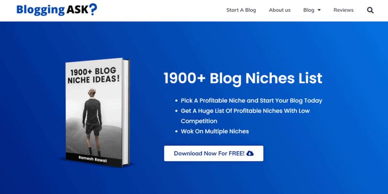 website examples blogging ask