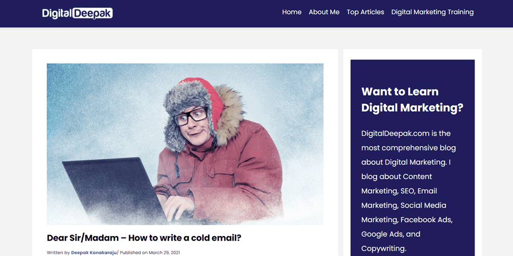 website examples digital deepak