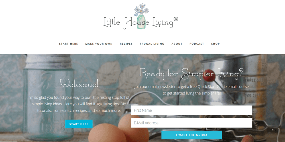 website examples little house living