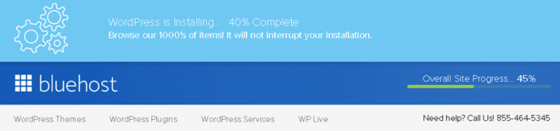 wordpress installation bluehost